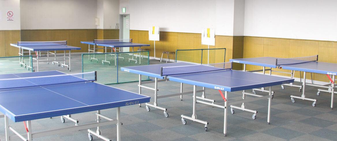 卓球コーナーも県内最大数の8台を収容